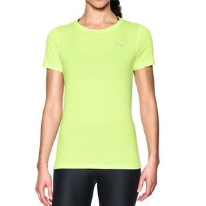 Under Armour Yellow Fitted Active Shirt XL